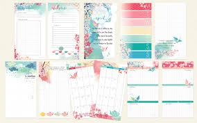 Making A Daily Planner April 2019 Ring Bound Personal Sized Planner Pages Only Cherish Blossom