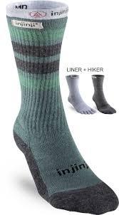 Injinji Liner Socks Size Chart Injinji Nuwool Liner Hiker Socks Baselayer