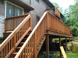 wood deck stair railing designs stylish deck stair railing home exterior design wood deck step railing