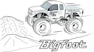 Monster Trucks Coloring Pages Monster Truck Pictures To Print And
