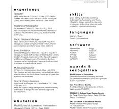 Student Journalist Resume Examples Broadcast Journalism Samples ...