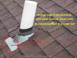 plumbing roof vent. Properly Installed Plumbing Vent Flashing On Sloped Shingle Roof T