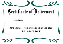 printable certificates and awards to include in your gift basket printable retirement certificate 2