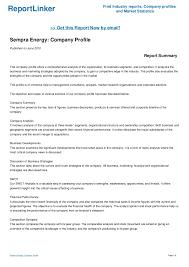 Sempra Energy Company Profile