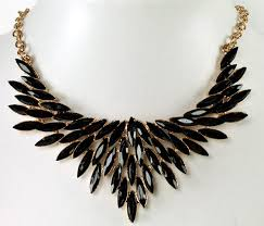 black wing necklace statement necklace f52095 statement necklace f52095