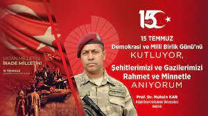 """Ο χρήστης Niğde Ömer Halisdemir Üniversitesi στο Twitter: """"Rektörümüz Prof.  Dr. Muhsin Kar'dan """"15 Temmuz Demokrasi ve Milli Birlik Günü"""" Mesajı Mesaja  ulaşmak için: https://t.co/vXYuaJP9Tr @karmuhsin  #NiğdeÖmerHalisdemirÜniversitesi… https://t.co ..."""