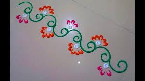 Small Picture Very small rangoli design rangoli borderby DEEPIKA PANT YouTube