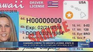 Cards To Driver's And Licenses Coming Id Changes Hawaii