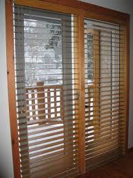 wooden blinds for patio doors. Fine Patio Put Up Wood Blinds Over Patio Doors For Wooden T