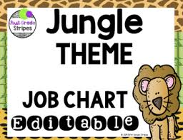 First Grade Job Chart Jungle Theme Job Chart Editable