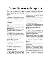 Sample Scientific Report 8 Documents In Pdf Word Docs