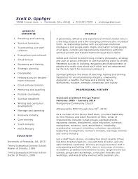 Ministry Resume Template Ministry Resume 7 Pastor Sample Within