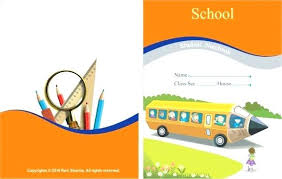 School Cover Page Design Book Covers Style