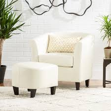 Living Room Club Chairs Mercury Row Apollonios Retro Club Chair Ottoman Set Reviews