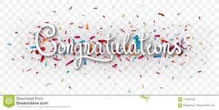 Congratulations Poster Congratulations Banner Isolated On Transparent Background