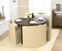 medium size of oak dining table and 6 cream leather chairs round light space saving endearing