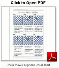 Chess Moves Chart Pdf Cheat Sheet Beginners Chess Moves Chess Moves