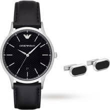 armani watches for men watches designer luxury swiss watches emporio armani mens dress black watch and cufflinks gift set