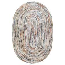 vintage american braided rug for