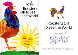 eric carle signed autographed rooster s off to see the world hc very busy spider 9780887081781 ebay