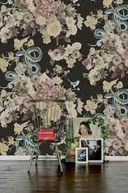 Fay Dark Floral Wallpaper