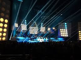 fantastic lighting. celine dion at the colosseum caesars palace: fantastic lighting and staging. y