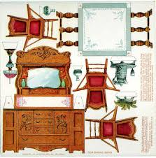 free dollhouse furniture patterns. Paper Dollhouse Furniture Printables Free Patterns E