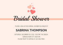 Bridal Shower Invitation Templates Microsoft Word Free Powerpoint