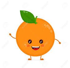 Cute Smiling Happy Orange Vector Flat Cartoon Character