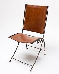 ch003 vintage leather folding chair