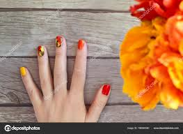 Red And Yellow Nail Designs Red And Yellow Nail Designs Colorful Red Yellow Orange