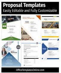 Cost Proposal Template Word Customizable Ms Word Proposal Templates Office Templates