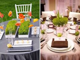 wheat grass centerpieces
