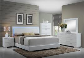 Coaster Felicity LED Platform 4 Pc Bedroom Set