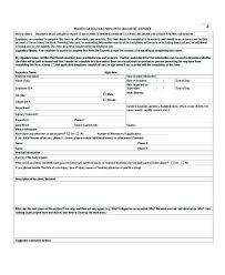 Injury Incident Report Form Template Work Incident Report Form