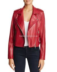women s moto bale simple elegant faux leather moto jacket in crimson red