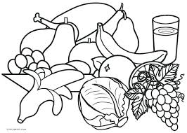 Printable Food Coloring Pages Healthy Food Coloring Pages Printable