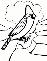 45 Cardinal Bird Coloring Page Male Cardinal Bird Coloring Page