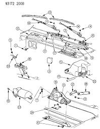 1993 dodge shadow windshield wiper washer system diagram 00000c2v