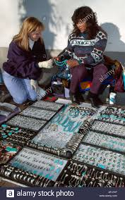 new mexico southwest santa fe palace of the governors pueblo native american jewelry vendor visitor nm nm