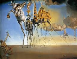 the temptation of st anthony painting salvador dali the temptation of st anthony