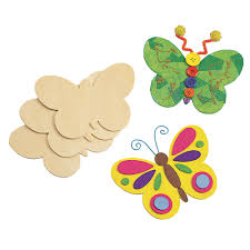 Wooden Butterfly Shapes Pack Of 12