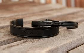 personalized gift her beast his beauty bracelet set of two personalized leather bracelets for friend boyfriend gift couples bracelets