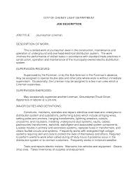 electrician job description for resume experience resumes electrician job description for resume
