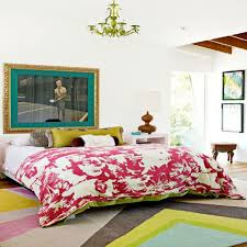 Lots Of Patterns Give An Eclectic Bedroom Style.
