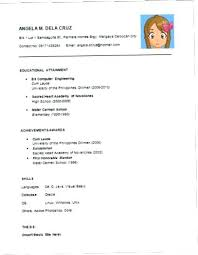 Example Of Simple Resume Inspiration Samples Of Simple Resumes Simple Resume Format Simple Resume Sample