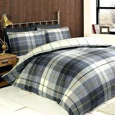 plaid duvet cover king comforter set white tartan sets size quilt covers asda c