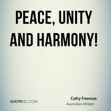Unity Quotes Adorable Cathy Freeman Peace Quotes QuoteHD