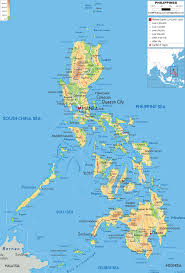 physical map of philippines  ezilon maps