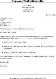 Employment Verification Letter Template Doc Gdyinglun Com